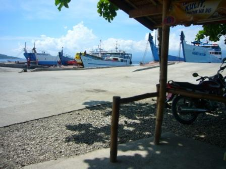 """View from one of the """"Carenderias"""" (eatery stalls)"""